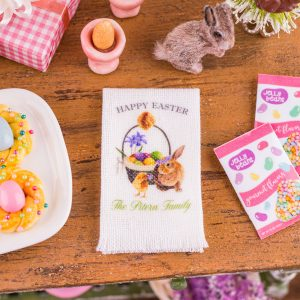 Personalized Happy Easter Tea Towel