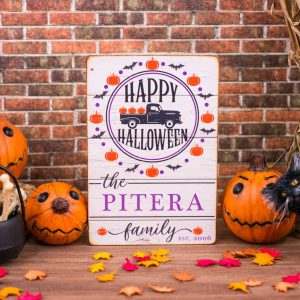 Personalized Happy Halloween Porch Sign