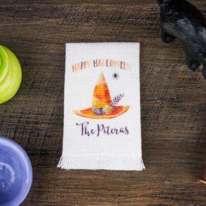 Personalized Happy Halloween Tea Towel