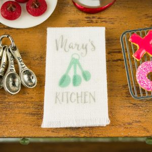 Personalized Measuring Spoons Kitchen Tea Towel