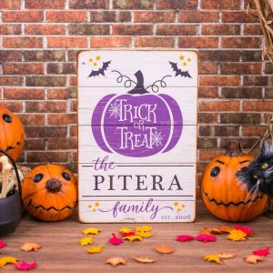 Personalized Trick or Treat Porch Sign