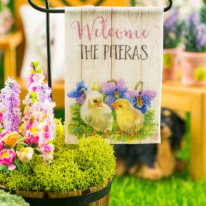 Personalized Welcome Chicks Spring Garden Flag