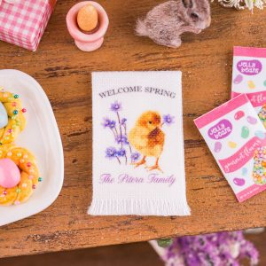 Personalized Welcome Spring Tea Towel
