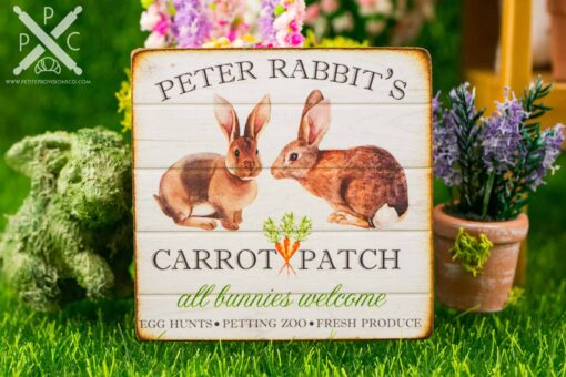 Dollhouse Miniature Peter Rabbit's Carrot Patch Sign