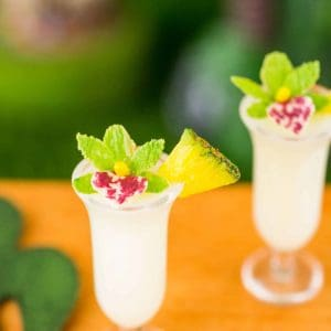 Piña Coladas for Two with Orchids