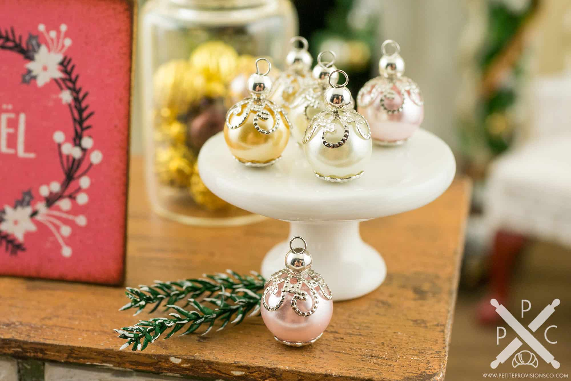 Dollhouse Miniature Elegant Pink, Ivory And Peach