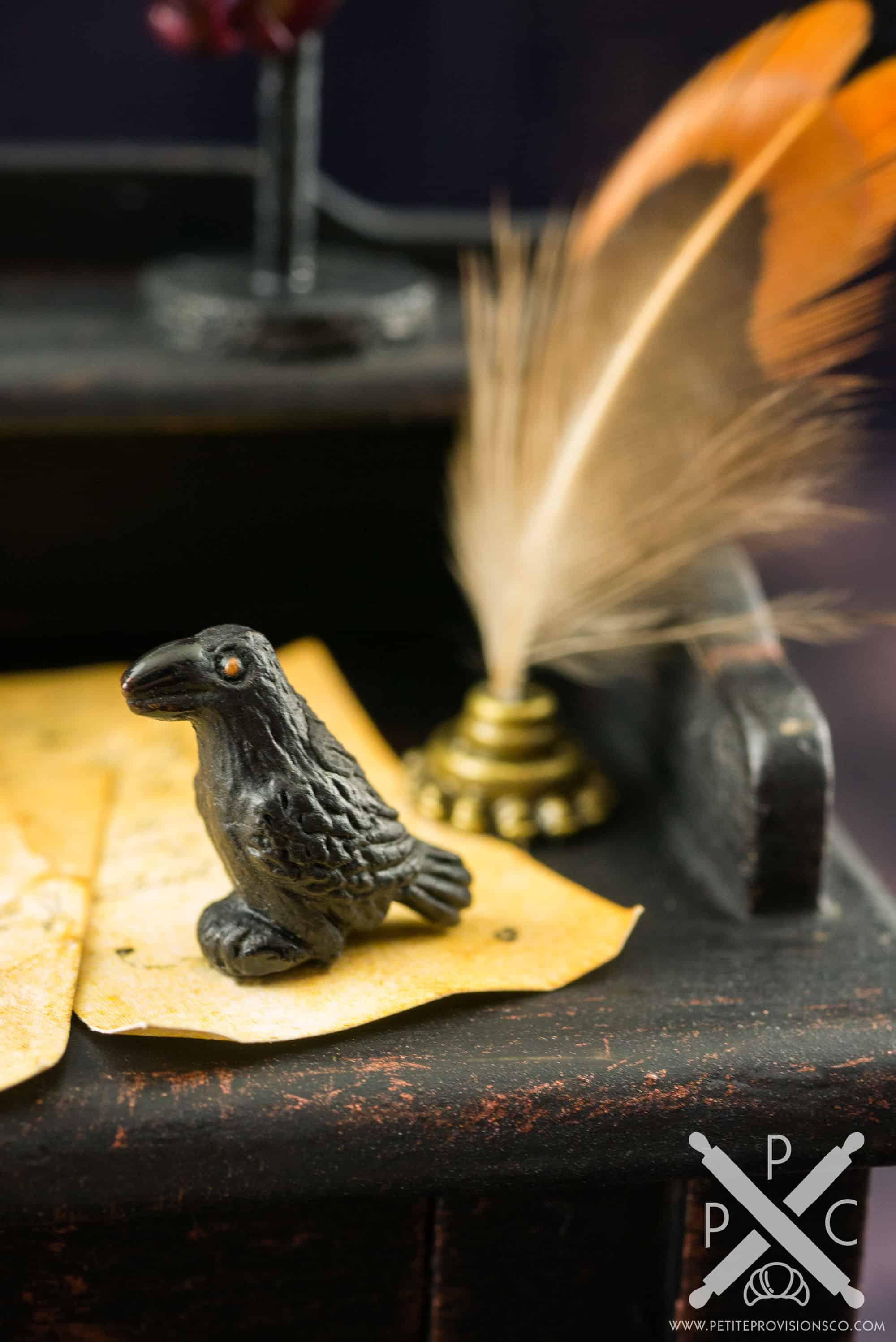 Dollhouse Miniature Edgar Allan Poe S Writing Desk 1 12