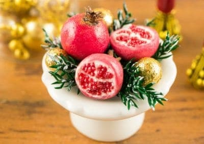 Christmas Pomegranate Centerpiece