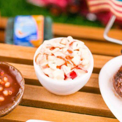 Dollhouse Miniature Potato Salad - Red Potato Salad - 1:12 Dollhouse Miniature Barbecue Food
