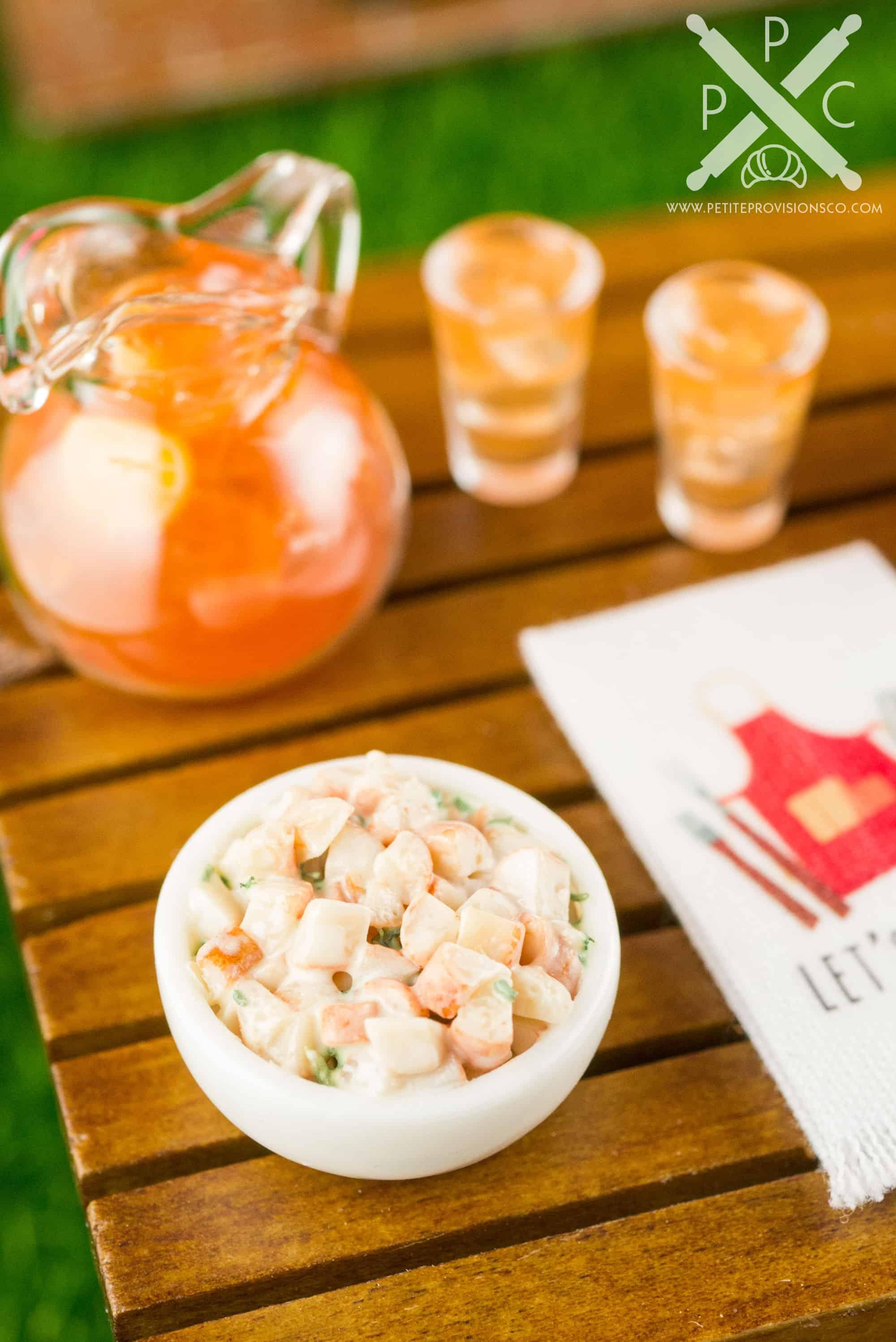 1:12 Dollhouse Miniature Salad in Bowl// Miniature Meal