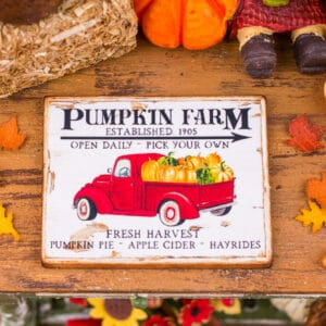 Pumpkin Farm Pickup Truck Sign