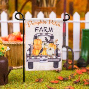 Pumpkin Patch Farm Garden Flag