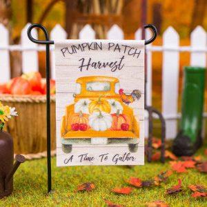 Pumpkin Patch Harvest Garden Flag