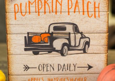 Pumpkin Patch Sign – Decorative Autumn Sign