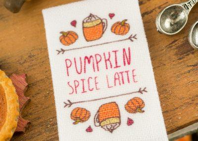 Pumpkin Spice Latte Autumn Tea Towel