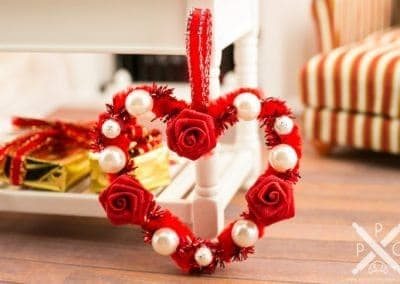 Red Rose Heart Shaped Valentine's Day Wreath