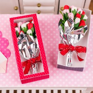 Red Valentine's Day Long Stemmed Rose Bouquet in Box