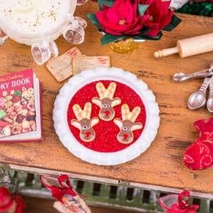 Reindeer Cookies on Tray