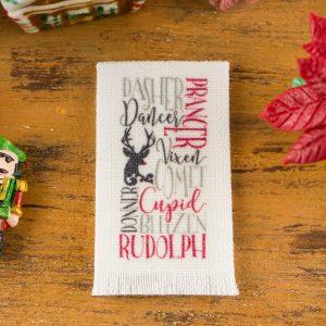 Santa's Reindeer Tea Towel