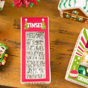Retro Christmas Tinsel Box