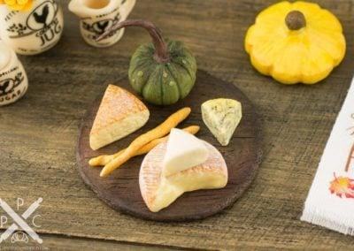 Gourmet Autumn Cheese Board with Pumpkin