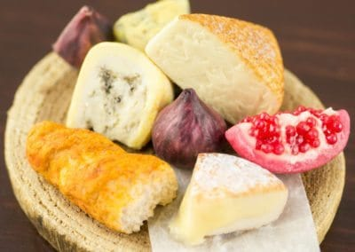 Gourmet Rustic Cheese Board with Figs and Pomegranate