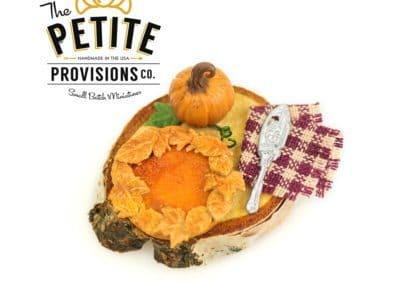 Rustic Pumpkin Pie Board with Pumpkin and Pie Server