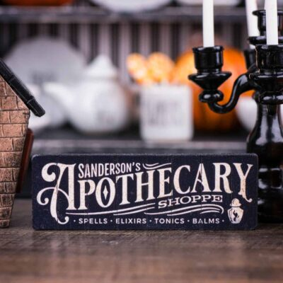 Dollhouse Miniature Sanderson's Apothecary Shoppe Sign - Decorative Halloween Sign - 1:12 Dollhouse Miniature - Halloween Miniatures