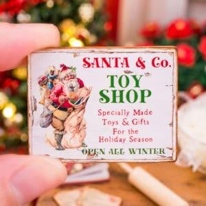 Santa & Co. Toy Shop Sign