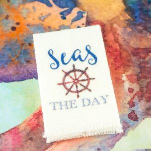 Seas the Day Nautical Tea Towel