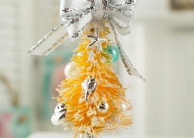 Silver and Aqua Beach Themed Tabletop Tree
