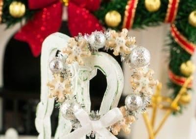 Silver Snowflake Cookie Christmas Wreath