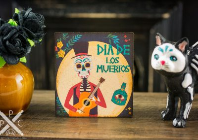 Skeleton Musician – Decorative Day of the Dead Sign