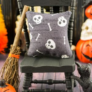 Skulls and Bones Halloween Pillow