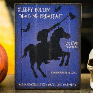 Sleepy Hollow Dead and Breakfast Sign