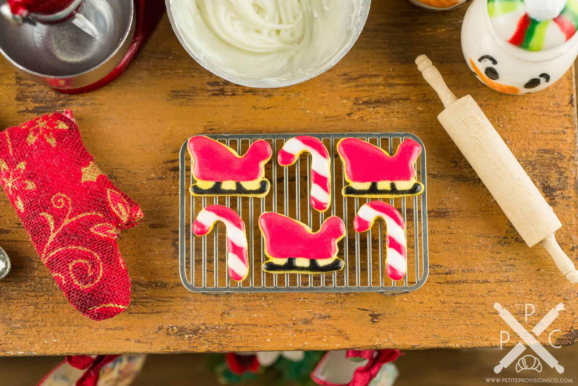 Santa S Sleigh And Candy Canes Cookies Half Dozen