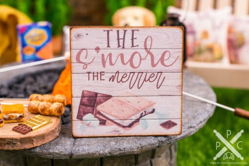 Dollhouse Miniature The S'More the Merrier Sign - Decorative Autumn Sign - 1:12 Dollhouse Miniature Decor