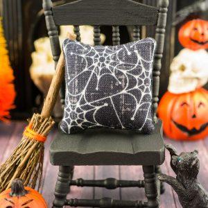 Spiderwebs Halloween Pillow