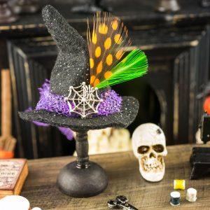 Spiderweb Witch Hat Decoration