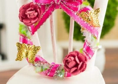 Pink and Green Spring Butterfly Wreath
