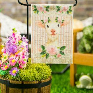 Spring Lamb Easter Garden Flag