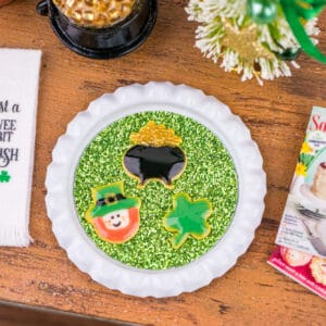 St. Patrick's Day Cookies on Tray