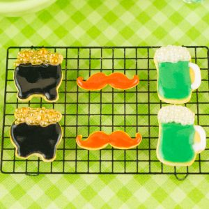 St. Patrick's Day Cookies – Half Dozen – 1:12 Dollhouse Miniature