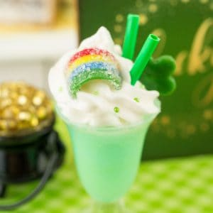 Lucky Green St. Patrick's Day Freak Shake – Giant Milkshake – 1:12 Dollhouse Miniature