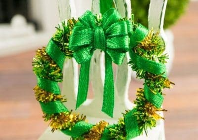 Green and Gold St. Patrick's Day Wreath