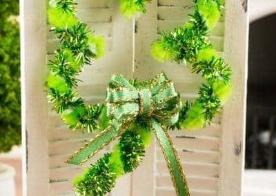 St. Patrick's Day Shamrock Shaped Wreath