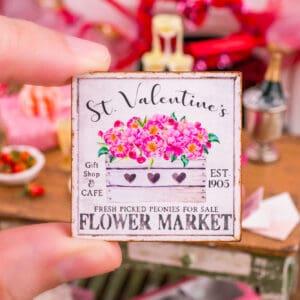 St. Valentine's Flower Market Sign