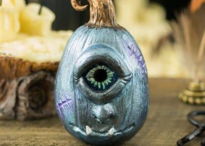 Steel Blue Monster Pumpkin