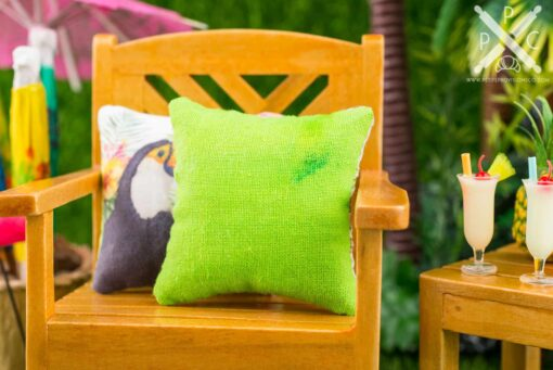 Dollhouse Miniature Succulents Pillow - 1:12 Dollhouse Miniature Throw Pillow