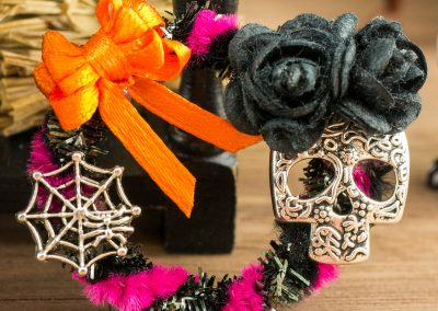 Sugar Skull Day of the Dead Wreath